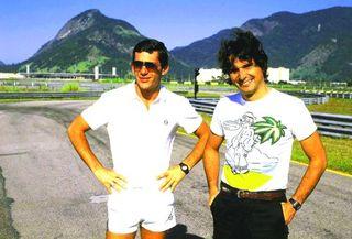 Senna e Piquet autodromo